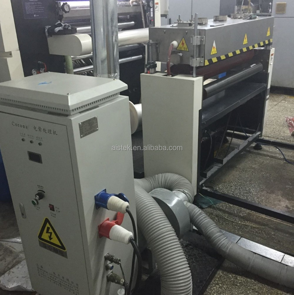 Plastic PP film corona treater / corona station / corona treatment machine