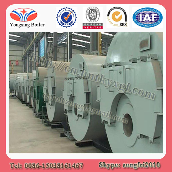Horizontal type fire tube automatically diesel oil or hotel gas fired steam boiler