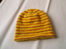 China soft knitted stripe newborn hat for babies manufacturer