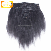 Wholesale Price Top Grade 100% Remy clip-in yaki human hair extensions