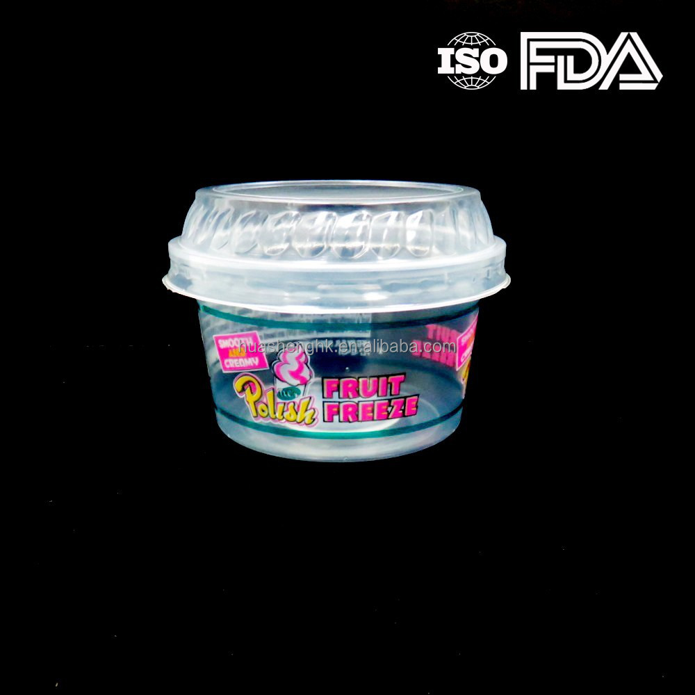 Factory Price 4oz Plastic Pudding Cup with Cover