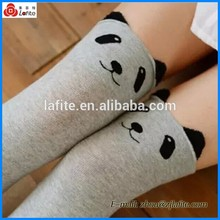 school girls new style panda socks clean soft compression knee high socks