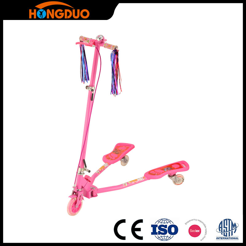 Adult swing flicker frog style kick scooter