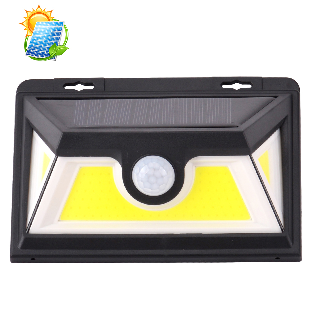 10 <strong>W</strong> cob solar wall light IP 65 waterproof solar security light with motion sensor