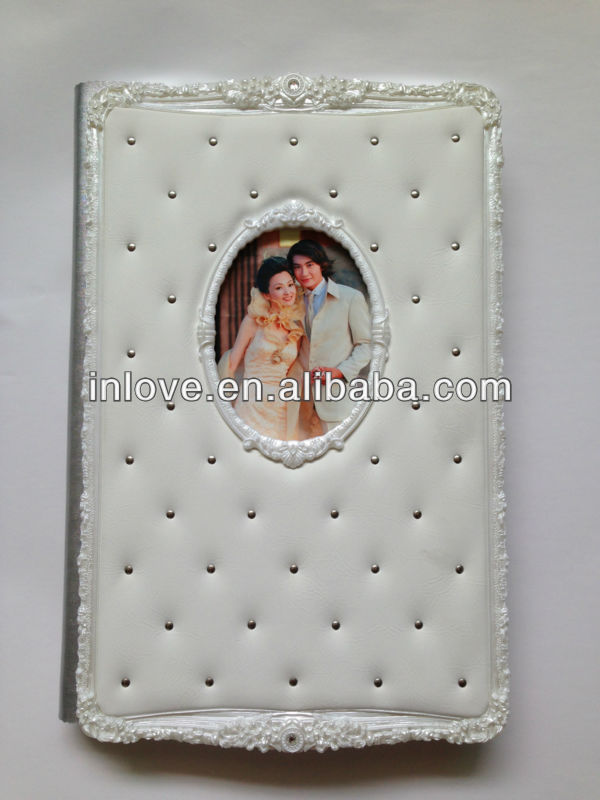 Unique Style 8x12 Leather Wedding wedding music photo album white color
