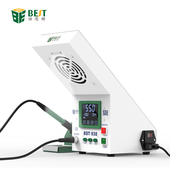 BST-938 New arrival 2 In 1 ESD Hot Air Gun Soldering Station Welding Solder Iron For IC SMD with smoke absorber