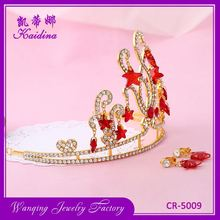 New coming comfortable design plastic king crown