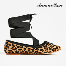 sexy daily work women ladies leopard ballerina flat shoes