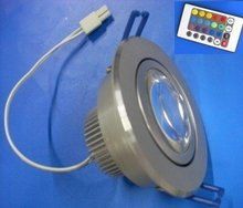 1*5 RGB LED ceiling light with IR controller