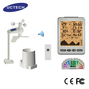 high quality Silver Weather alarm free standing automatic stations professional wifi barometric weather station