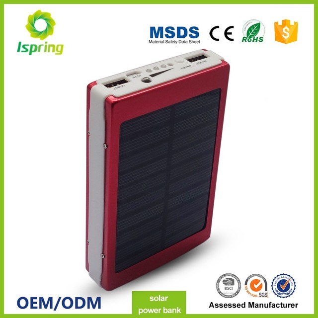 2017 universal solar energy 13000mah portable power bank for philips iphone