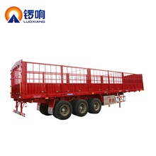 Steel Side Bar Fence Truck Cargo Bulk Stake Semi Trailer