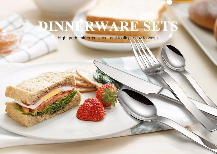 Popular on the middle east gold silverware of flatware set