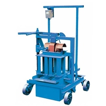 ZCJK QM40A small manual concrete building Hollow mobile block making machine in Africa