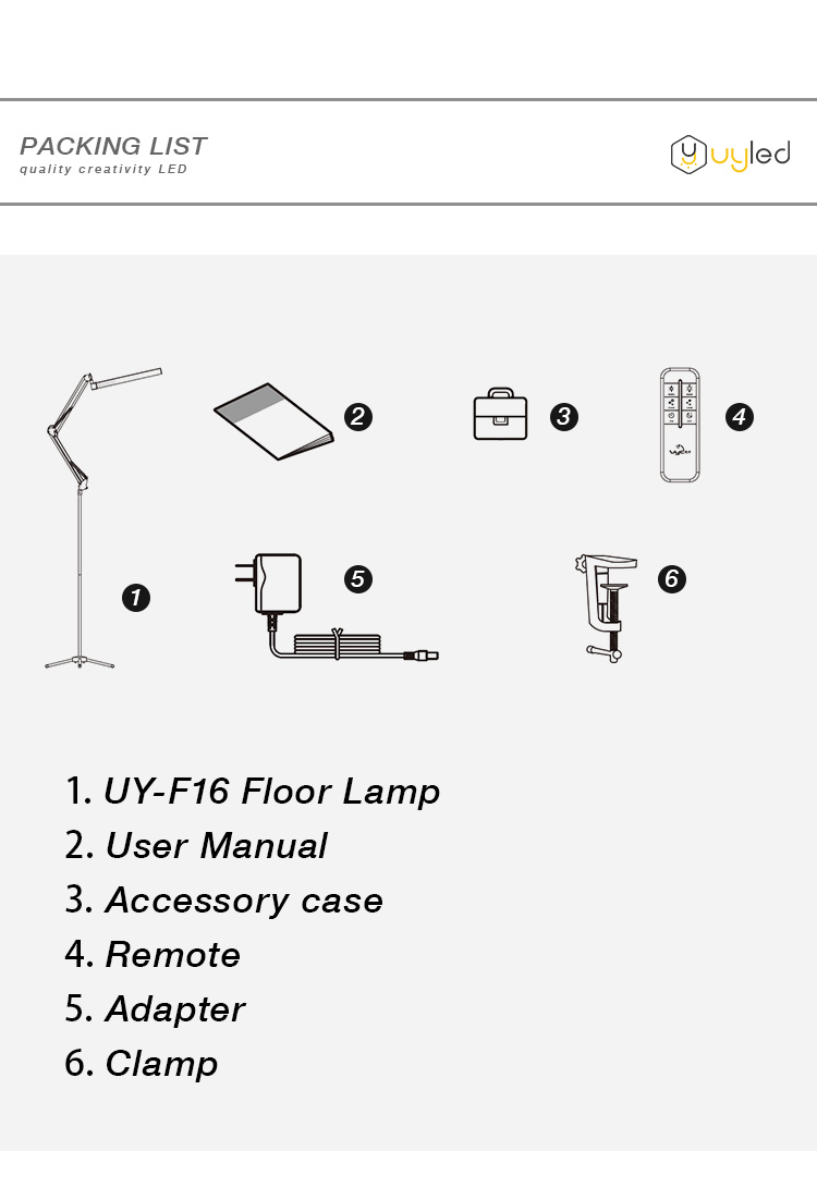 UYLED  2.4 Remote Control Cosmetic Lamp Stand Light LED Floor Stand Lamps  for Eyelash Extension