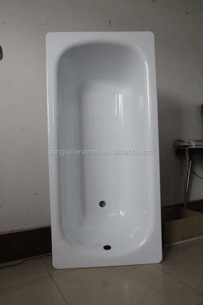 bathroom tub enamel steel plate bathtub hot tubs with high quality