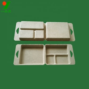 Factory direct supply quake-proof smooth molded bamboo pulp wax melts clamshell packaging