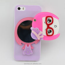 China Wholesale Cute Cartoon Image Design PC Case Mirror Cover For Iphone 6