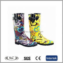 yellow transparent martin pvc rubber wellington shoes lady rubber rain boots toddler wellies for women