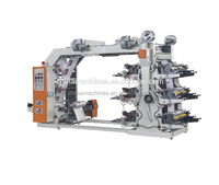 High quality low cost Flexo 6 color poster handbag printing Machine
