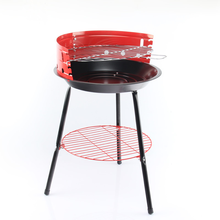 with CE 14 inch Porcelain enamel paint picnic red charcoal BBQ grill