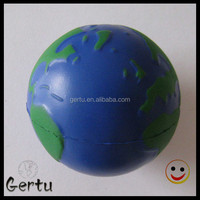 promotional logo printed earth anti stress ball