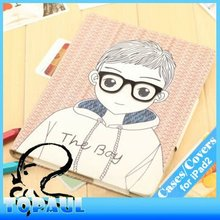 3D cartoon lovers series pu leather universal tablet covers