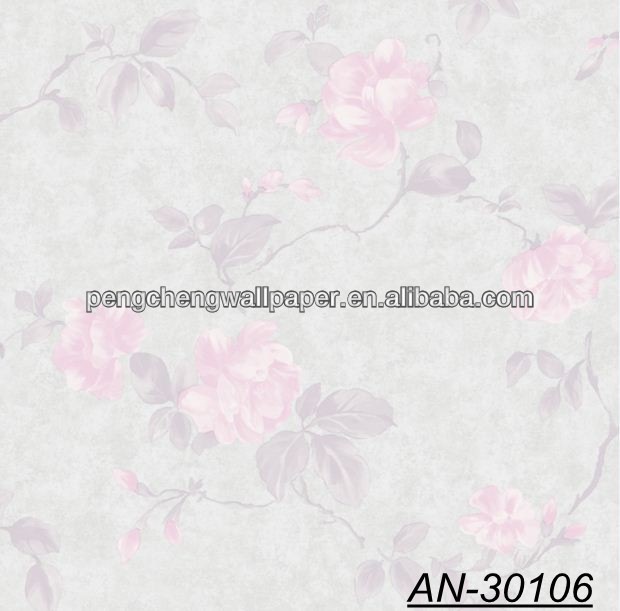 Pink Flowers and Gray Background PVC Wallpapers Designs