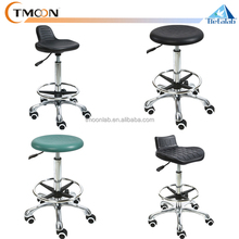 CATALOG! Laboratory furniture PU & steel material adjustable laboratory chair lab stool chair with arms / wheels
