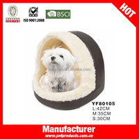 Leather Canopy Funny Designer Dog House Pet Bed