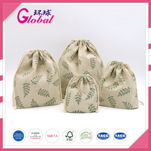 2016 ODM Promotional Full Printing Cotton Canvas Drawstring Bag for Packaging Gift