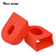 WEST BIKING 1 Pair MTB Road Mountain Bicycle Rubber Crank Protector Case Durable Bicycle Cycling Bike Crank Protective Cover Cap