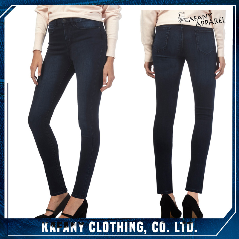 2017 New Women Jeans Sex Girl Jeans In Tight Jeggings Dark blue Slim Fit Jeggings