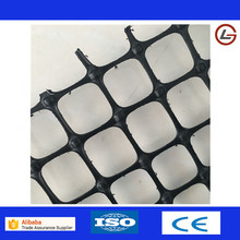 Factory directly sell black pp biaxial plastic geogrid road construction material