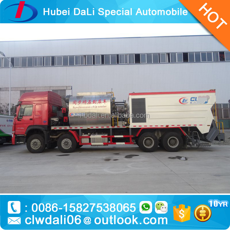 World Famous Brand HOWO 8*4 Bitumen and Aggregate synchronous chip sealer for sale