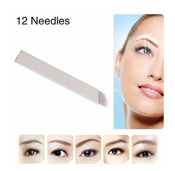 High Quality Disposable Permanent Eyebrow tattoo Blades Microblading Needles