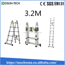 portable double side a type extension telescopic ladder