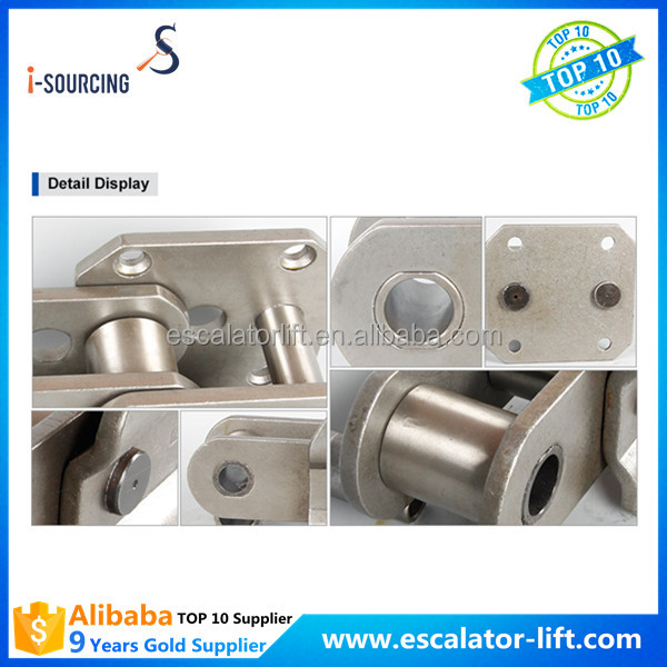 Escalator size available parts step chain for sale