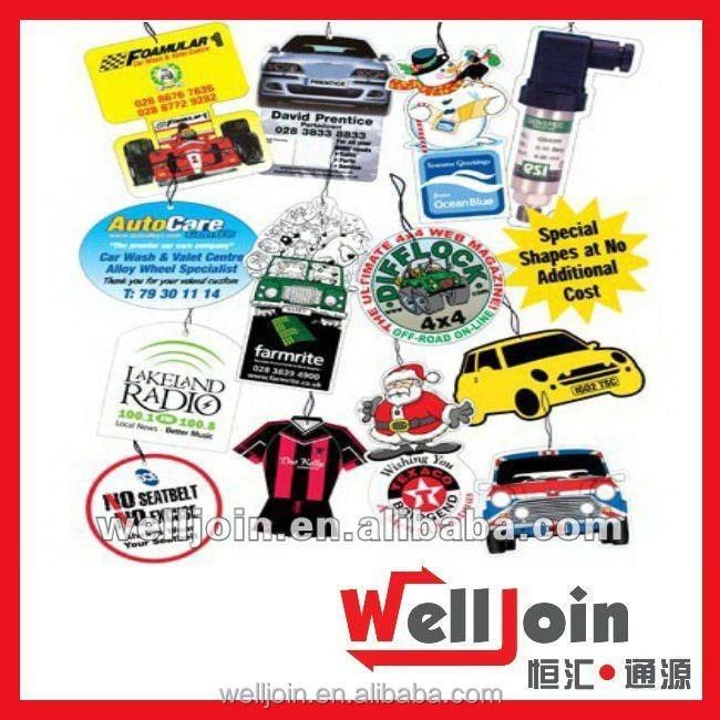 Promotional customized design cheap car air freshener