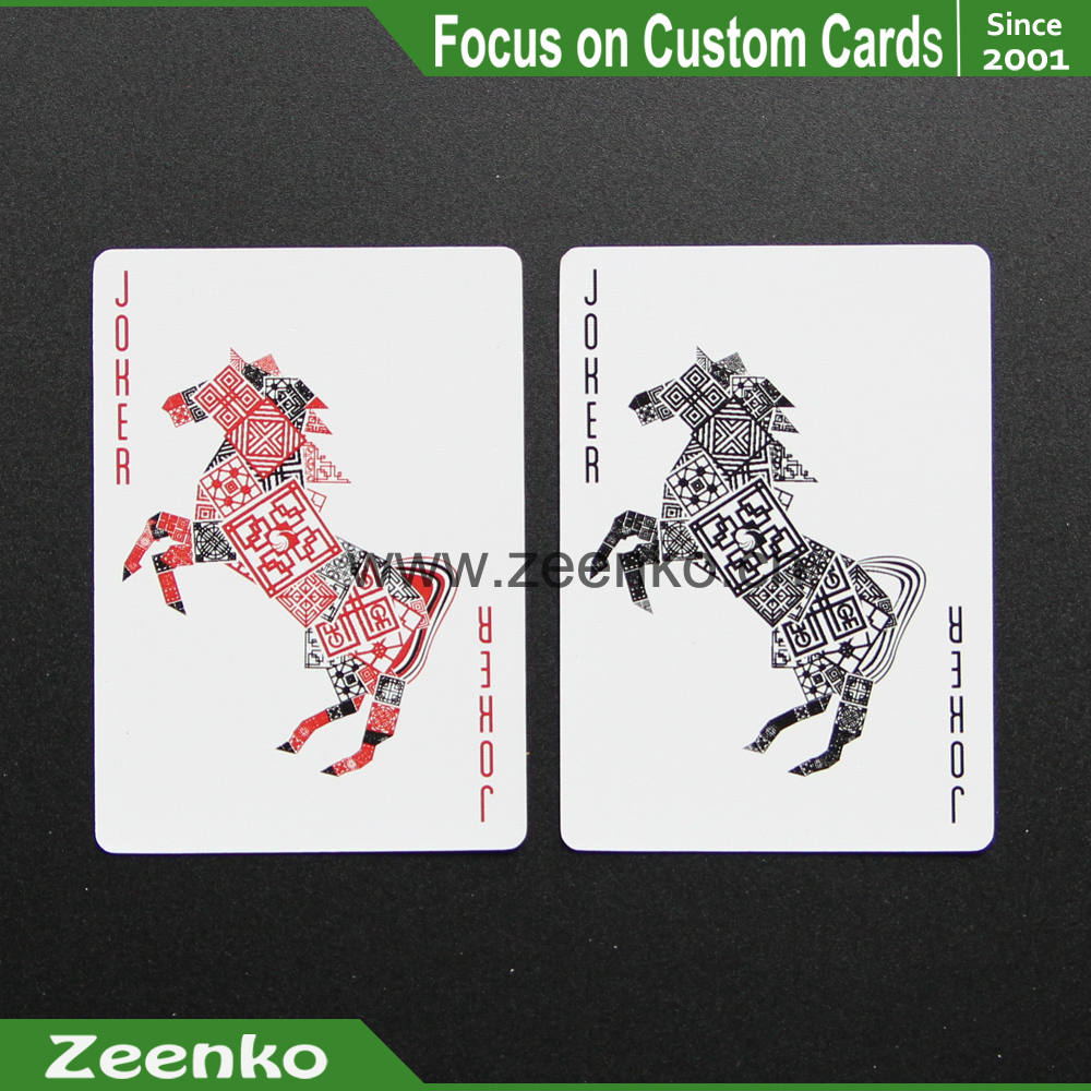 070 Horse Customized Bridge Size Animal Print Playing Cards