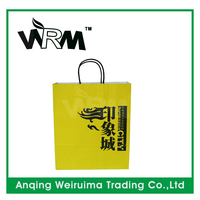 custom glossy art paper packing paper bag for shopping with your own logo printed