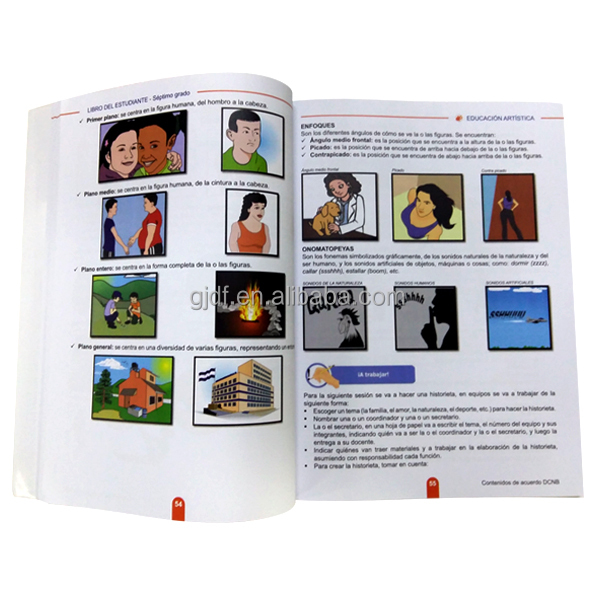Colorful Cheap Customized Education Text Book Printing