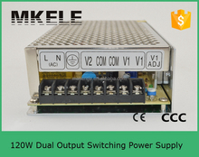 d-120 series power supply double output switch power supply 24v 4a switching power supply
