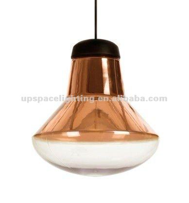 Moderne glas dekoration lampe kupfer blasen pendelleuchte for Dekoration kupfer