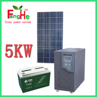 DYPIC-5KW 5000w portable solar system with controller inverter battery in one box for home use solar system 5000w