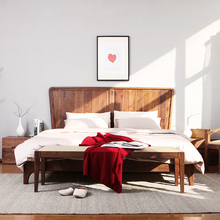 Indoor home furnishing king size wood bed frame