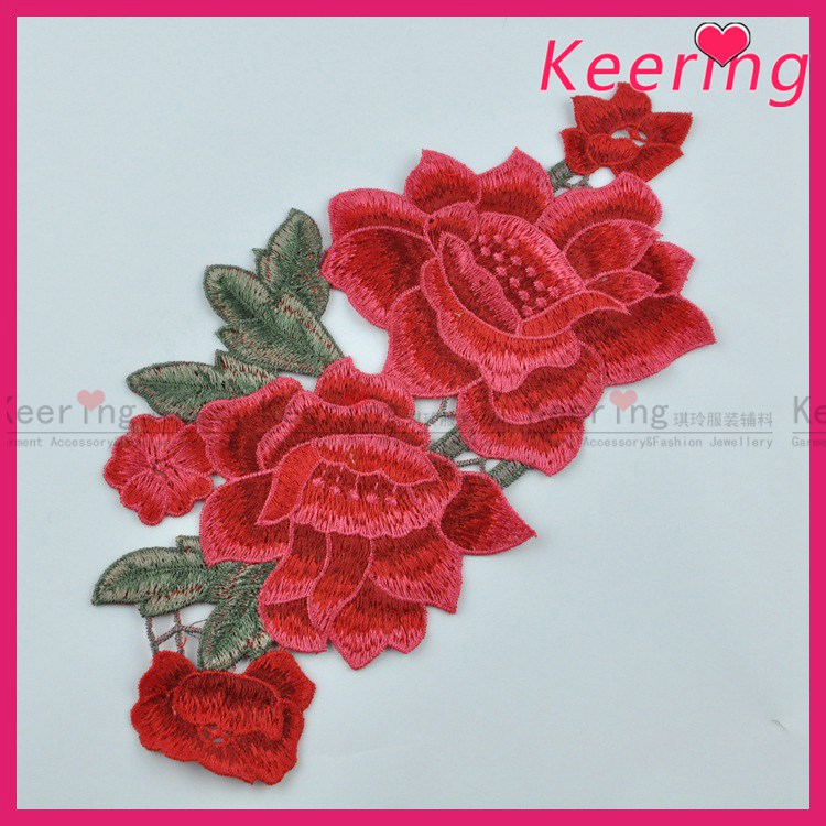 wholesale keering hand flower embroidery patch designs WEF-<strong>005</strong>