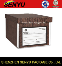 quality assurance cheapest price for wood grain cardboard box