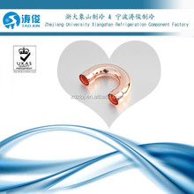 Air conditioner refrigeration U type bend copper pipe fittings 180 degree elbow for size 6.35mm~54mm (1/4~2-1/8)