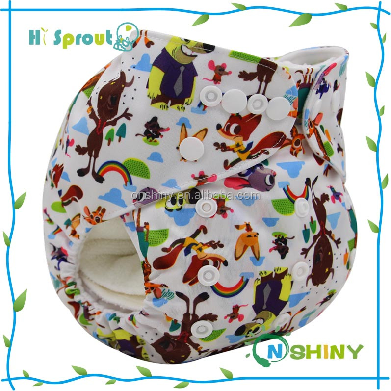 Fashion Adjustable Reusable Customized Baby cloth diaper